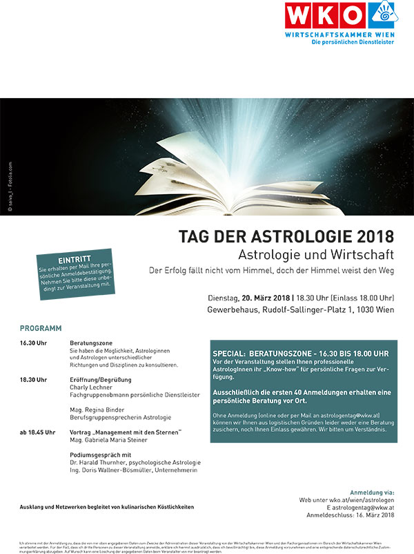 Tag der Astrologie 2018 Wien